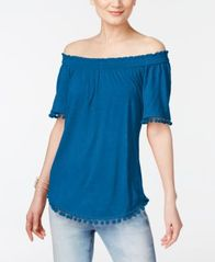 Image of INC International Concepts Popsicle® Off-The-Shoulder Top, Created for Macy's