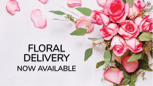 Floral Delivery now available!  Picture of pink roses