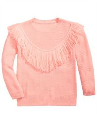 Image of Pink Republic Fringe-Front Sweater, Big Girls
