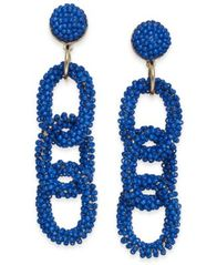 Image of Thalia Sodi Gold-Plated Seed Bead Link Linear Earring, Created for Macy's