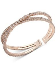 Image of Anne Klein Crystal Crisscross Coil Cuff Bracelet