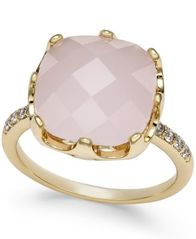 Image of Charter Club Pavé & Pink Stone Ring, Created for Macy's