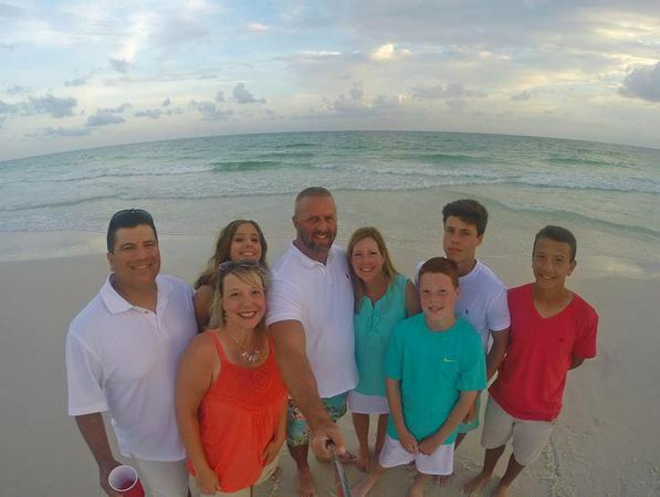 Family picture at beach