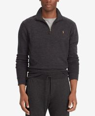 Image of Polo Ralph Lauren Men's Estate-Rib Mock-Neck Pullover, Created for Macy's