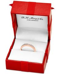 Image of Diamond Baguette Gold Band (1/7 ct. t.w.) in 14k Gold, Rose Gold or White Gold