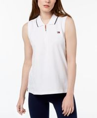 Image of Tommy Hilfiger Sport Sleeveless Zipper Polo Shirt, Created for Macy's