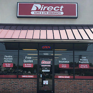 Front of Direct Auto store at 1633 Asheville Highway, Spartanburg