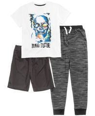 Image of Max & Olivia 3-Pc. Graphic-Print Pajama Set, Little & Big Boys