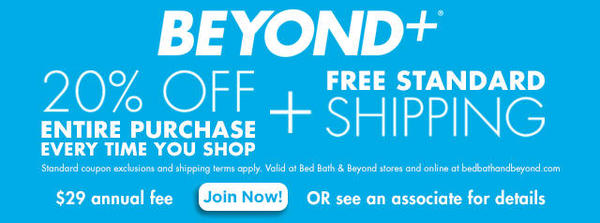 BEYOND+ Membership 20% Off Entire Purchase Every Time