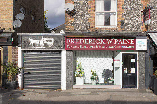 Frederick W Paine Funeral Directors in Esher, Surrey.