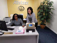 Christine and Amy at work