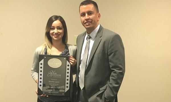 New Business Award 2016 with District Manager Roy Corral