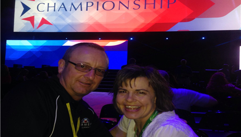 My husband Russ and myself at Championship in San Antonio. Office: 303-768-8130.
