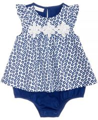 Image of First Impressions Floral-Print Cotton Skirted Romper, Baby Girls, Created for Macy's