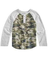 Image of Epic Threads Little Boys Graphic-Print Henley T-Shirt, Created for Macy's