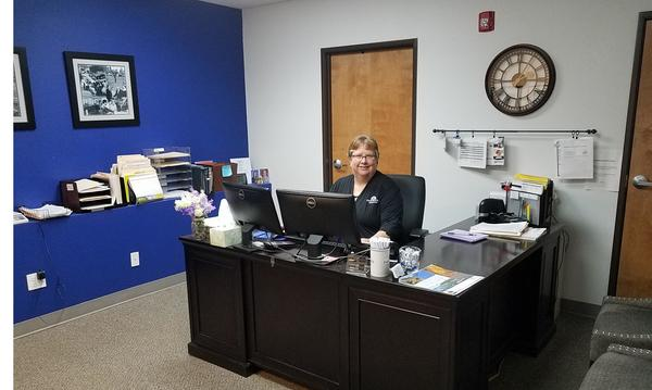 Office Manager, Karen Borough.
