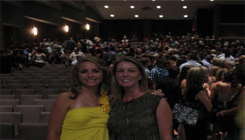 Christy and Lunden at Graduation