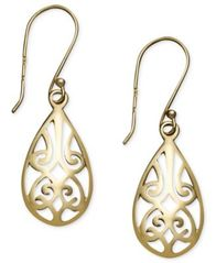 Image of Giani Bernini Filigree Teardrop Earrings in 18k Gold over Sterling Silver and or Sterling Silver