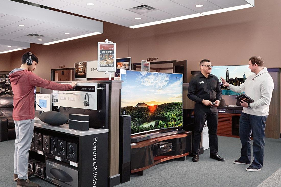 The Magnolia Home Theater studio experience where customers are shopping.