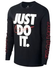 Image of Nike Big Boys Just Do It-Print Cotton T-Shirt