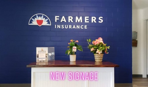 Farmers office logo with flowers and balloons