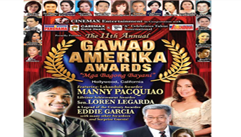 "Marlene Dizon agency award from ""GAWAD AMERIKA"""