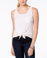 Image of Rebellious One Juniors Tie-Front Tank Top
