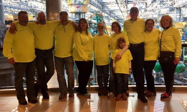 Our annual JDRF walk at MOA for our God Son