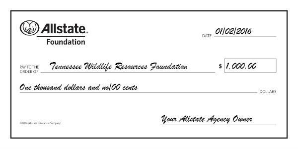 Chad Fox - Allstate Foundation Helping Hands Grant for Tennessee Wildlife Resources Foundation