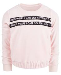 Image of Ideology Big Girls Girls Can Do Velour Sweatshirt, Created for Macy's