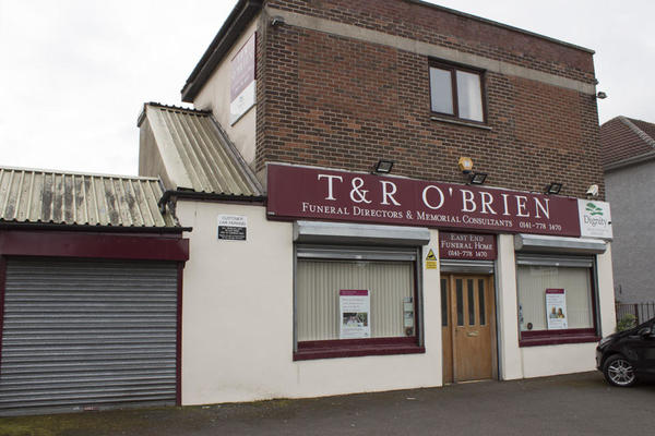 T & R O'Brien Funeral Directors in 676 Edinburgh Road, Glasgow