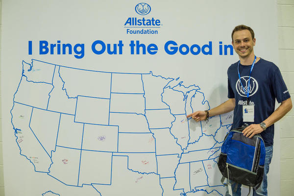 Evan Larson - Allstate Foundation Helping Hands in the Community