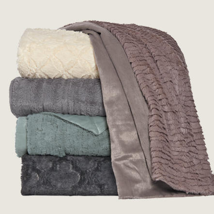 Blankets & Throws. Pretty and practical! Update your look often with our great selection of quality finds. From cozy blankets to stylish throws in faux fur, Sherpa, velour, and more, we have you covered with quality options priced 20-60% below department stores every day.