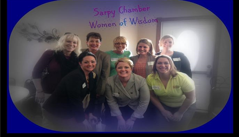 Heather and Sharon attending the Sarpy Chamber Women of Wisdom event.