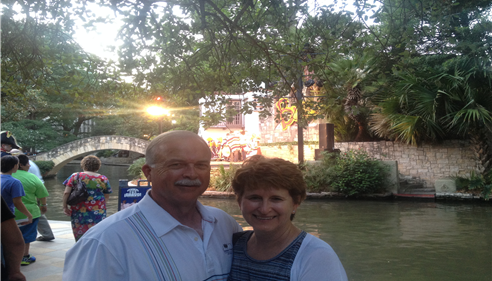 Gary & Michele at Championship in San Antonio River Walk. 2014