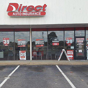 Front of Direct Auto store at 607 East Belt Boulevard, Richmond