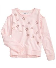 Image of Epic Threads Star-Studded Cold-Shoulder Sweatshirt, Big Girls, Created for Macy's