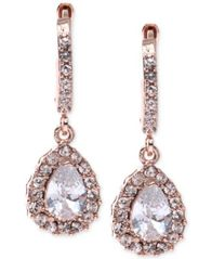 Image of Givenchy Rose Gold-Tone Silk Teardrop Earrings