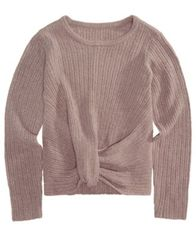 Image of Epic Threads Big Girls Wrap-Front Sweater, Created for Macy's