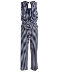 Image of Monteau Big Girls Striped Jumpsuit