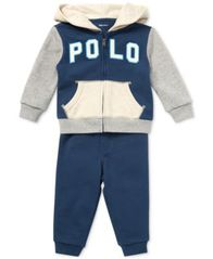 Image of Polo Ralph Lauren Baby Boys French Terry Hoodie & Jogger Pants Set