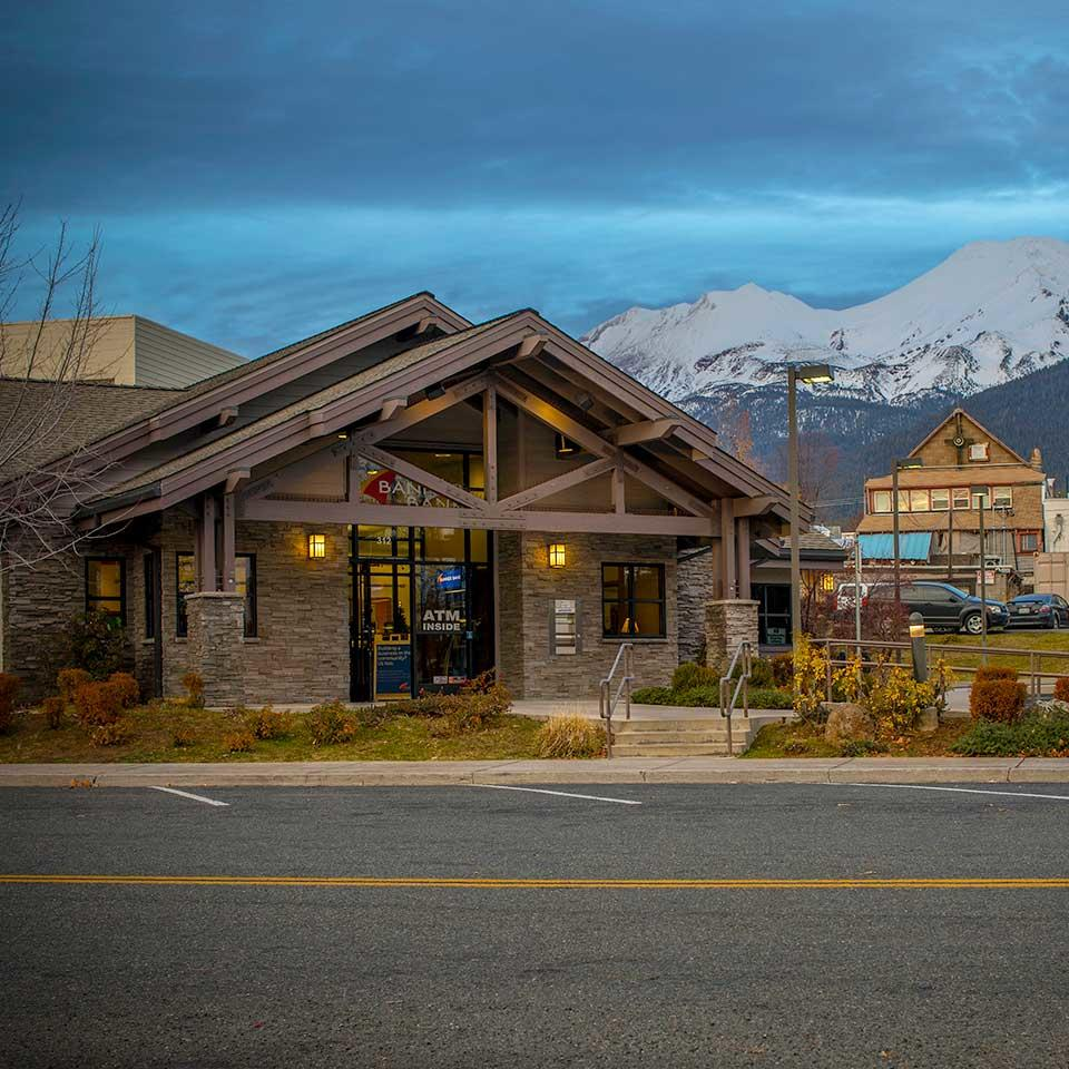 Banner Bank branch in Mount Shasta, California