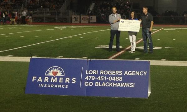 Lori presented a check to PRHS Athletic program. GO BLACKHAWKS!!!