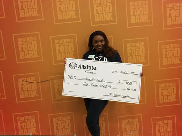 Cheryl R Kirkland - Allstate Foundation Helping Hands Grant for Northern Illinois Food Bank