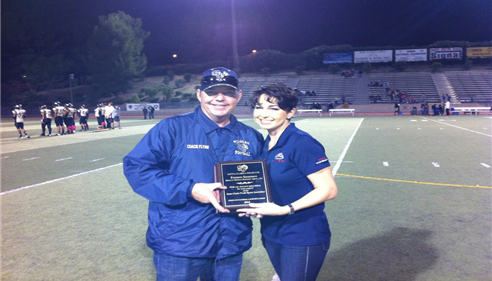 Maureen & Coach Flynn of the Santa Clarita Wildcats