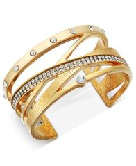 Image of INC International Concepts Pavé Crisscross Cuff Bracelet, Created for Macy's