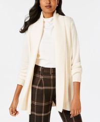 Image of Charter Club Shawl-Collar Long-Sleeve Cardigan, Created for Macy's