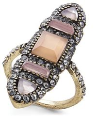 Image of I.N.C. Brass Multi-Stone Ring, Created for Macy's