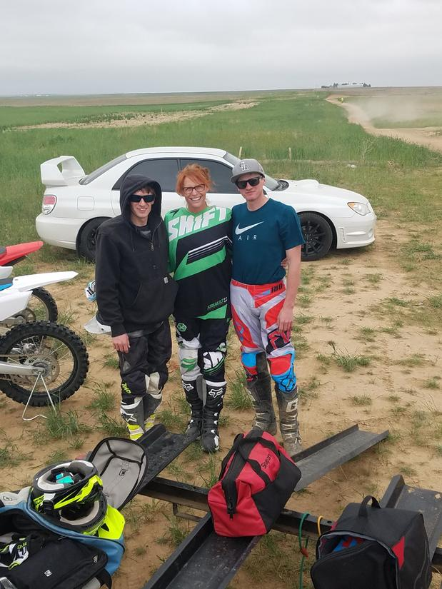 Mothers day dirt biking.  Our annual event