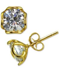 Image of Giani Bernini Cubic Zirconia Wavy Edge Stud Earrings, Created for Macy's